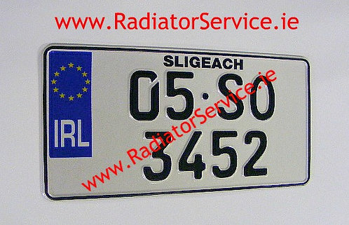 1of IRL German Square Pressed Plate
