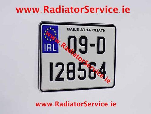 IRL Standard Motorcycle Pressed Plate Y7