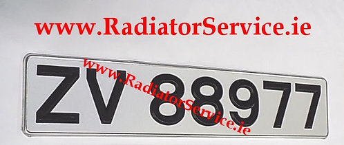 Plastic Black Digit Reflective Plate x 1 ONLY