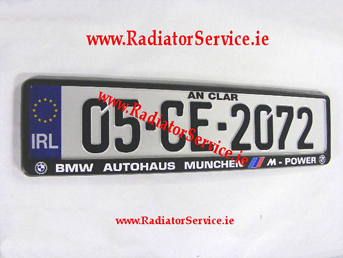Pair of IRL German Pressed Plates with BMW Frames( BM05 )