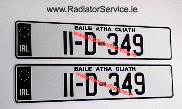 IRL Black Band Pressed Number Plates with Standard Font, available now.