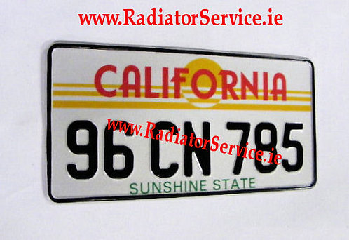 Pair of USA - California Medium No's 12ins x 6ins  Pressed Plates