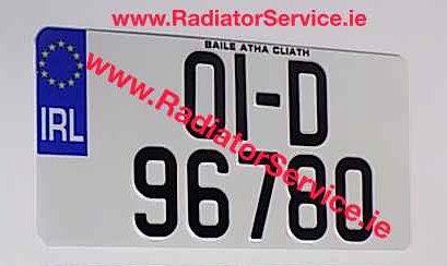 Jap NCT Pressed Number Plate 325 x 165mm (No Border)