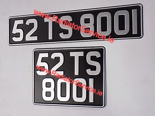 Vintage Pressed Number Plates with Large Font