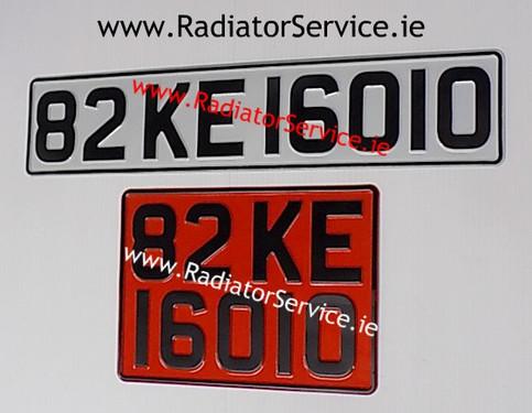Retro number plates