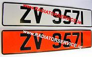 vintage number plates
