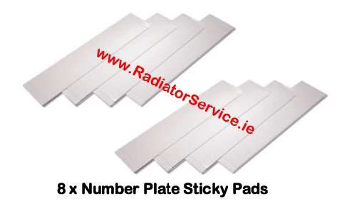 Number Plates Sticky Pads and Screws