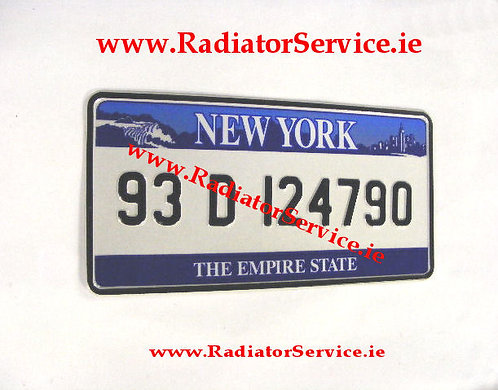 Pair of USA - NEW YORK Small No's 12ins x 6ins  Pressed Plates