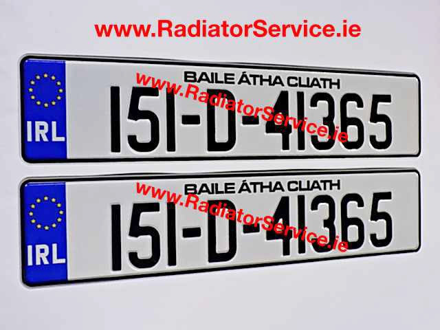 NCT Pressed Number Plates made while you wait at our premises in Dublin City Centre Ireland.