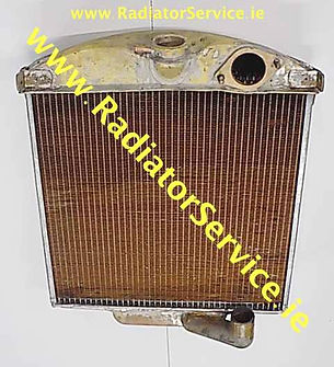 vintage jaguar radiator core