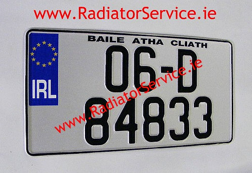 Jap NCT Pressed Square Number Plate 345x180mm