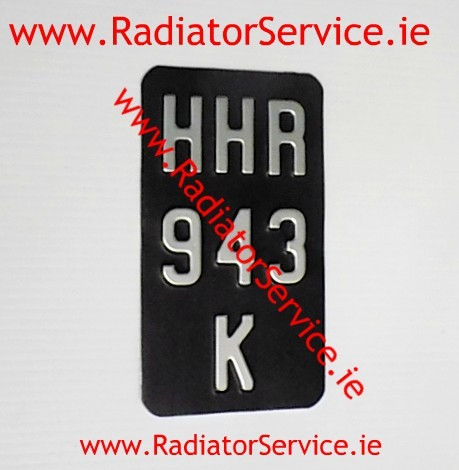 Motorcycle Vintage Number Plates that are available from our web shop www.RadiatorService.ie