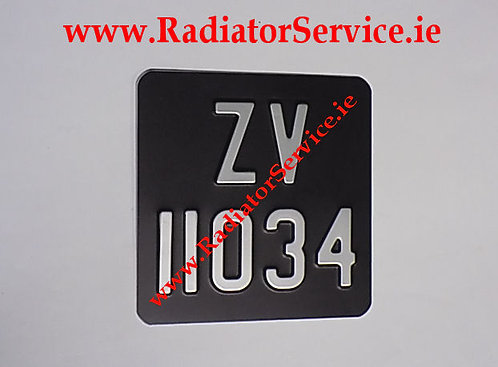 Motorcycle Pressed Plate 7 x 6ins Medium No's with a Colour Choice W12