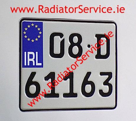 German Font Motorcycle Pressed Plate 200X180mm
