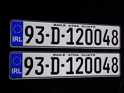 Pair of closed Zero and Nine IRL German Pressed Plates