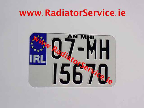 IRL Motorcycle Pressed Plate 7 x 4ins