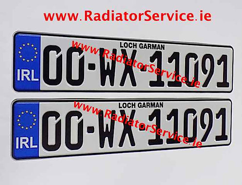 Pair of IRL German Pressed Plates