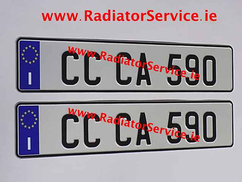 Italian Oblong Pressed Plates x 2  (IT2)