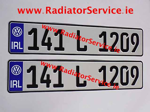 Pair of IRL German Pressed Plates with Logo Choice