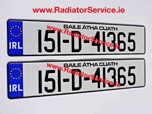 When can I get my NCT Road Legal Number Plates ?