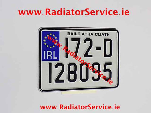 IRL Motorcycle Pressed Plate 7 x 5ins