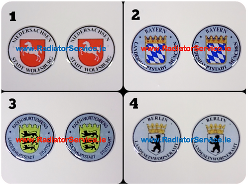 German Stad Seal Stickers x 2 of your Choice
