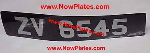 Vintage Sticker Number Plate Oblong or Square