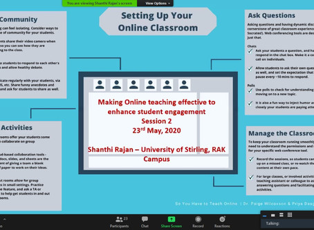 Part 2 – Making Online teaching Effective to enhance Student Engagement