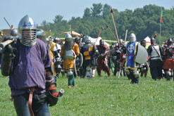 Acre and East Kingdom Fighters on the field