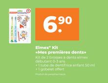 Elmex Kit. 2 Brosses à dents + 1 dentifrice + 1 gobelet