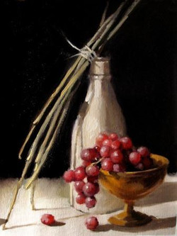 Still Life with Grapes and Sticks