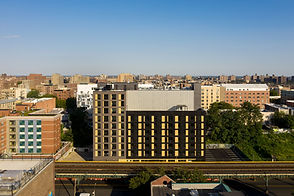 Picture of new, modern affordable housing building in the Bronx