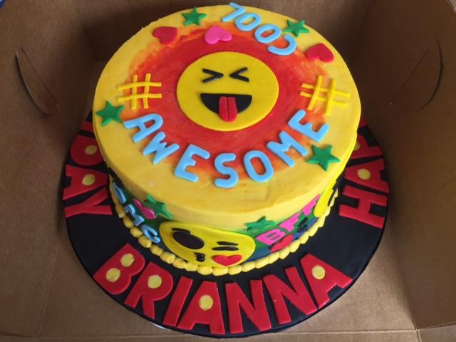 Custom Emoji Cake