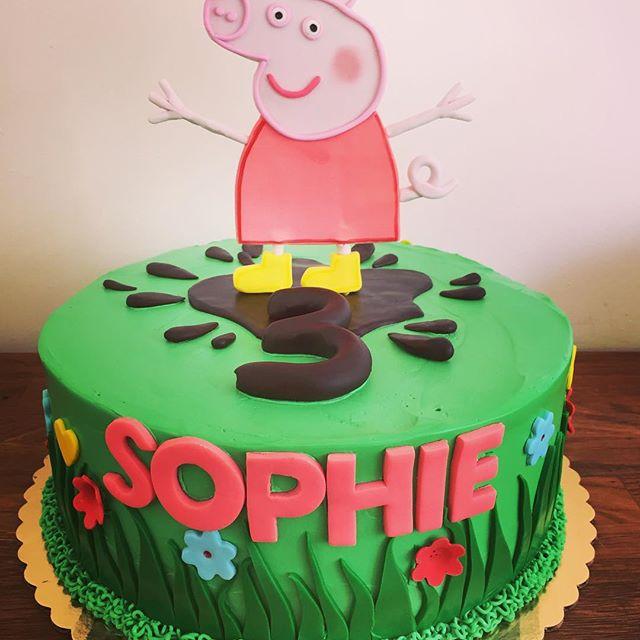 Peppa Pig cake _Vanilla cake, chocolate