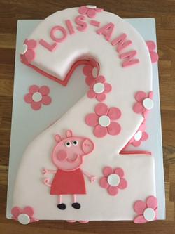 Custom Peppa Pig Cake