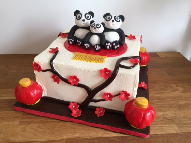 Custom Panda Cake