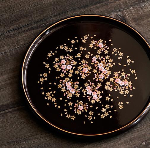 Sakura Blossom Lacquerware Plate