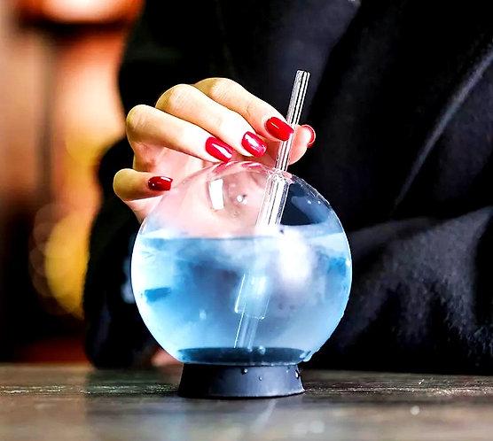 Crystal Ball Glass Bottle
