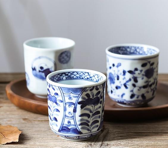 Qinghua Blue Garden Teacup