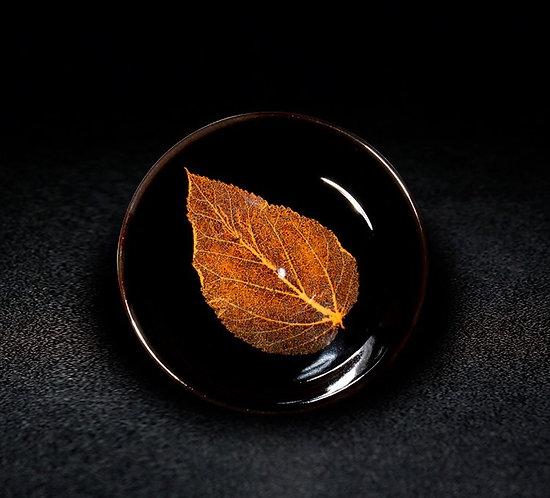 Autumn Gold Bohdi Leaf Teacup