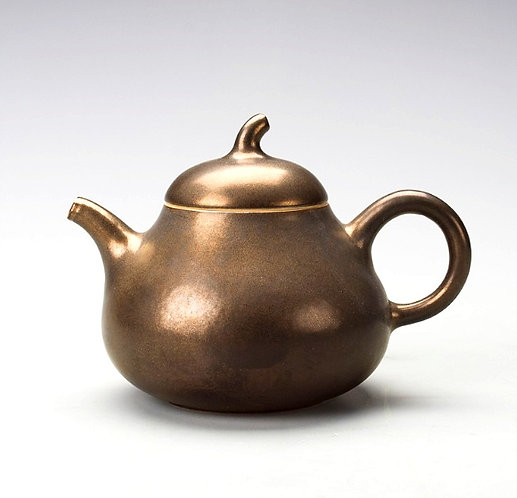 Delux Gold Glazed Fruit Si Ting Teapot