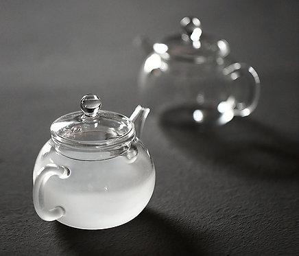 Mini Cannon Glass Pot (clear /  fog glass)