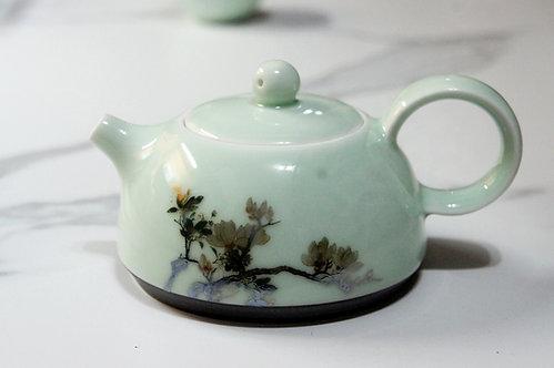 Handpainted Autumn Peony Teapot Set