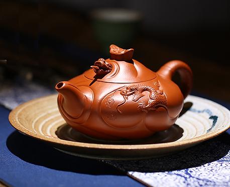 Yixing Zisha Zhu Clay Tiamat Dragon Teapot (350ml)