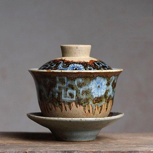 Glass Flower Gaiwan (150ml)