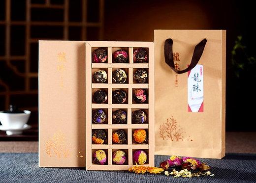 Spring Floral Raw Puerh Tea Ball Gift Set