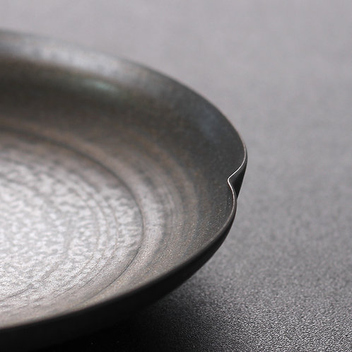 Metallic Glaze Coarse Clay Plate (Include Shipping for Bulky Item)