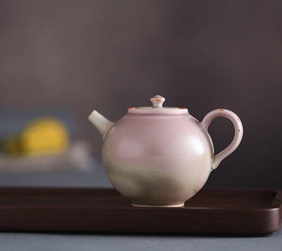 Handmade Rose Pink Glazed Teapot -  Canvas Studio