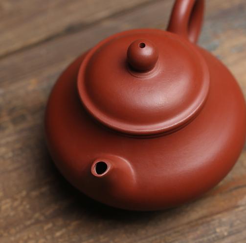 Yixing Zisha Zhu Clay Simple Teapot (100ml)
