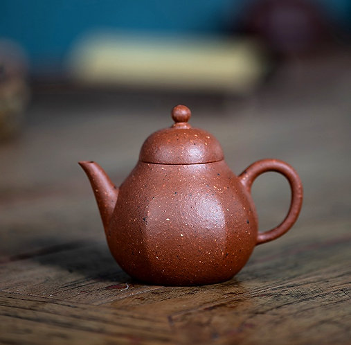 Yixing Zisha Aged Zhu Clay Mini Pear Teapot (105ml)